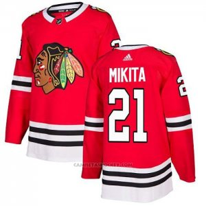 Camiseta Hockey Chicago Blackhawks 21 Stan Mikita Primera Autentico Rojo