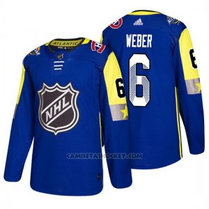 Camiseta Montreal Canadiens Shea Weber 2018 All Star Azul