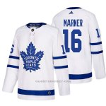 Camiseta Hockey Hombre Toronto Maple Leafs 16 Mitchell Marner Away 2017-2018 Blanco