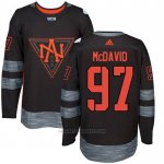 Camiseta Hockey Nino America del Norte Connor Mcdavid 97 Premier 2016 World Cup Negro