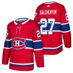 Camiseta Hockey Hombre Autentico Montreal Canadiens 27 Alex Galchenyuk Home 2018 Rojo
