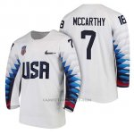 Camiseta USA Team Hockey 2018 Olympic John Mccarthy 2018 Olympic Blanco