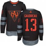 Camiseta Hockey Nino America del Norte Johnny Gaudreau 13 Premier 2016 World Cup Negro