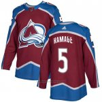 Camiseta Hockey Colorado Avalanche 5 Ramage Primera Autentico Rojo