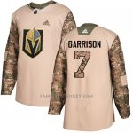 Camiseta Hockey Nino Vegas Golden Knights 7 Jason Garrison Camo Autentico 2017 Veterans Day Stitched