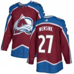 Camiseta Hockey Colorado Avalanche 27 Wensink Primera Autentico Rojo