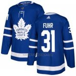 Camiseta Hockey Nino Toronto Maple Leafs 31 Grant Fuhr Azul Home Autentico Stitched
