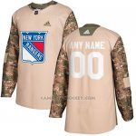 Camiseta Hockey Hombre New York Rangers Camo Autentico 2017 Veterans Day Stitched Personalizada