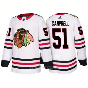 Camiseta Hockey Hombre Male Blackhawks 51 Brian Campbell Away 2018 Blanco