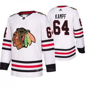 Camiseta Hockey Chicago Blackhawks David Kampf Segunda Autentico Blanco