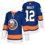 Camiseta Hockey Hombre Autentico New York Islanders 12 Josh Bailey Home 2018 Azul