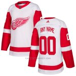 Camiseta Hockey Nino Detroit Red Wings Segunda Personalizada Blanco