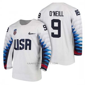 Camiseta USA Team Hockey 2018 Olympic Brian O'neill 2018 Olympic Blanco