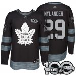 Camiseta Hockey Hombre Toronto Maple Leafs 29 William Nylander Negro 2017