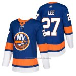 Camiseta Hockey Hombre Autentico New York Islanders 27 Anders Lee Home 2018 Azul