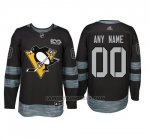 Camiseta Hockey Hombre Pittsburgh Penguins Personalizada Negro