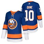 Camiseta Hockey Hombre Autentico New York Islanders 10 Alan Quine Home 2018 Azul