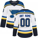 Camiseta Hockey Mujer St. Louis Blues Segunda Personalizada Blanco