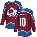 Camiseta Hockey Colorado Avalanche 10 Sven Andrighetto Primera Autentico Rojo