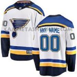 Camiseta Hockey Hombre St. Louis Blues Segunda Personalizada Blanco