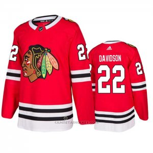 Camiseta Hockey Chicago Blackhawks Brandon Davidson Primera Rojo