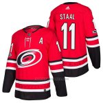 Camiseta Hockey Hombre Autentico Carolina Hurricanes 11 Jordan Staal Home 2018 Rojo