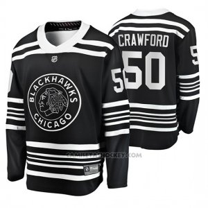 Camiseta Hockey Chicago Blackhawks Corey Crawford Premier Alternato Negro
