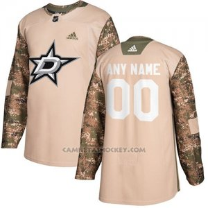 Camiseta Hockey Hombre Dallas Stars Camo Autentico 2017 Veterans Day Stitched Personalizada