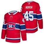 Camiseta Hockey Hombre Autentico Montreal Canadiens 45 Joe Morrow Home 2018 Rojo