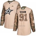 Camiseta Hockey Nino Dallas Stars 91 Tyler Seguin Camo Autentico 2017 Veterans Day Stitched