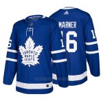 Camiseta Hockey Hombre Toronto Maple Leafs 16 Mitchell Marner Home 2017-2018 Azul