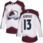 Camiseta Hockey Colorado Avalanche 13 Alexander Kerfoot Road Autentico Blanco