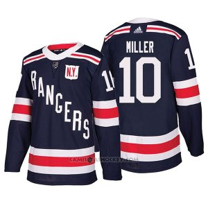 Camiseta Hockey Hombre Autentico New York Rangers 10 J.t. Miller Winter Classic 2018 Azul