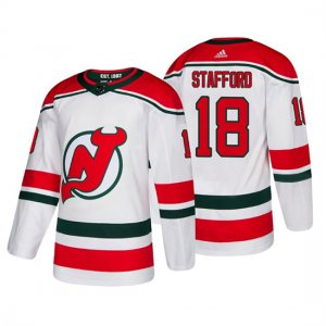 Camiseta New Jersey Devils Drew Stafford Alternato Adidas Autentico Blanco