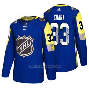 Camiseta Boston Bruins Zdeno Chara 2018 All Star Azul