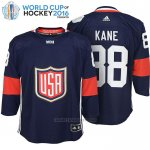 Camiseta Hockey Nino USA 88 Patrick Kane Premier 2016 World Cup Azul