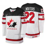 Camiseta Canada Team Chase Wouters 2018 Iihf World Championship Jugador Blanco