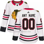 Camiseta Hockey Mujer Chicago Blackhawks Segunda Personalizada Blanco