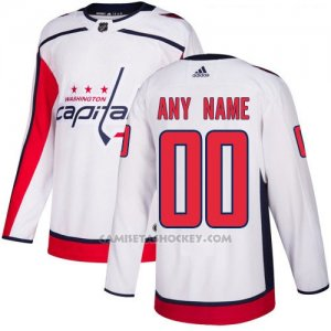 Camiseta Hockey Nino Washington Capitals Segunda Personalizada Blanco