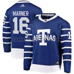Camiseta Hockey Nino Toronto Maple Leafs 16 Mitchell Marner Azul Autentico 2018 Arenas Throwback Stitched