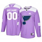 Camiseta Hockey Hombre St. Louis Blues Personalizada Violeta