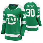 Camiseta Hockey Mujer Dallas Stars Ben Bishop Breakaway Jugador 2020 Winter Classic Verde