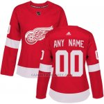 Camiseta Hockey Mujer Detroit Red Wings Primera Personalizada Rojo