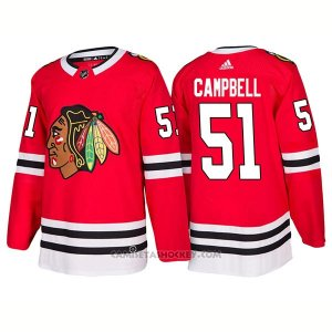 Camiseta Hockey Hombre Male Blackhawks 51 Brian Campbell Home 2018 Rojo