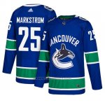 Camiseta Vancouver Canucks Jacob Markstrom Home Azul