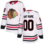 Camiseta Hockey Hombre Chicago Blackhawks Segunda Personalizada Blanco