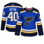 Camiseta Mujer St. Louis Blues 40 Carter Hutton Blue Adizero Jugador Home