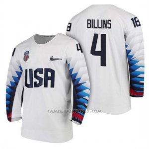 Camiseta USA Team Hockey 2018 Olympic Chad Billins 2018 Olympic Blanco