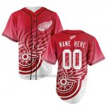 Camiseta Hockey Hombre Detroit Red Wings Personalizada Rojo