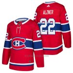 Camiseta Hockey Hombre Autentico Montreal Canadiens 22 Karl Alzner Home 2018 Rojo